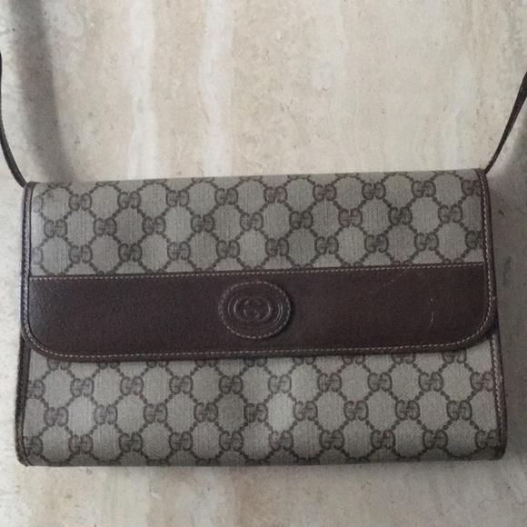 6dcd9b0e0da2 Gucci Bags | Authentic Gg Vintage Crossbody Or Clutch | Poshmark